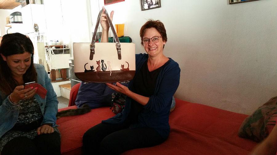 Nadine ARRIBERT GAGNANTE 1er PRIX TOMBOLA 2015